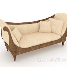 欧式精简沙发3d模型下载