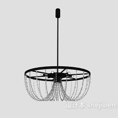 简约高雅水晶吊灯3d模型下载