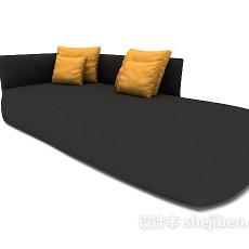 现代黑色个性沙发3d模型下载
