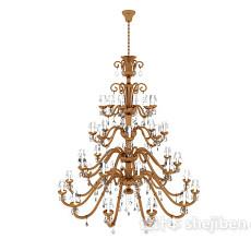 欧式大型客厅吊灯3d模型下载