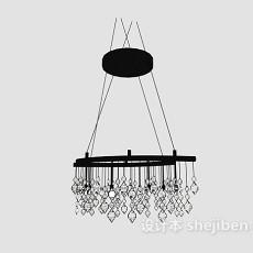 时尚水晶吊灯3d模型下载