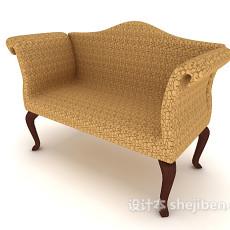 简欧风格单人沙发3d模型下载