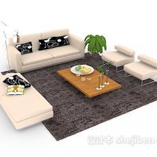 客厅组合沙发3d模型下载