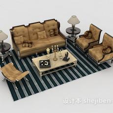 欧式家居组合沙发3d模型下载