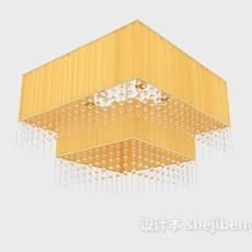 大型黄色家居吊灯3d模型下载