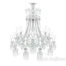 整体水晶吊灯3d模型下载