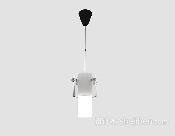 现代风格白色吊灯