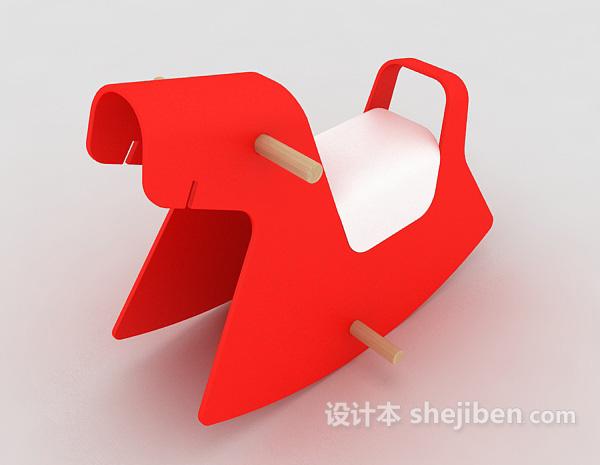 红色儿童木马玩具