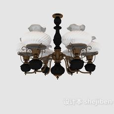 欧式家居古典吊灯3d模型下载
