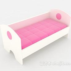 简约儿童床3d模型下载