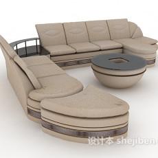 现代灰色多人沙发3d模型下载