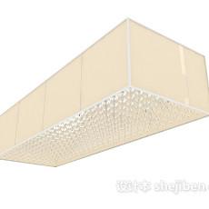 大型浅色吊灯3d模型下载