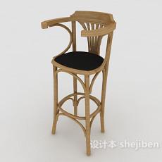 田园吧台椅3d模型下载