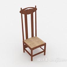 简约欧式高背椅3d模型下载