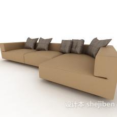 现代简洁多人沙发3d模型下载