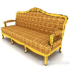 加色欧式沙发3d模型下载