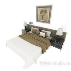新古典风格双人床3d模型下载