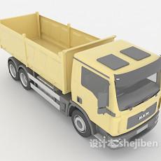 黄色运货卡车3d模型下载