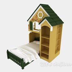 童趣儿童床3d模型下载