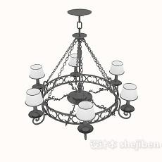 欧式风格古典吊灯3d模型下载