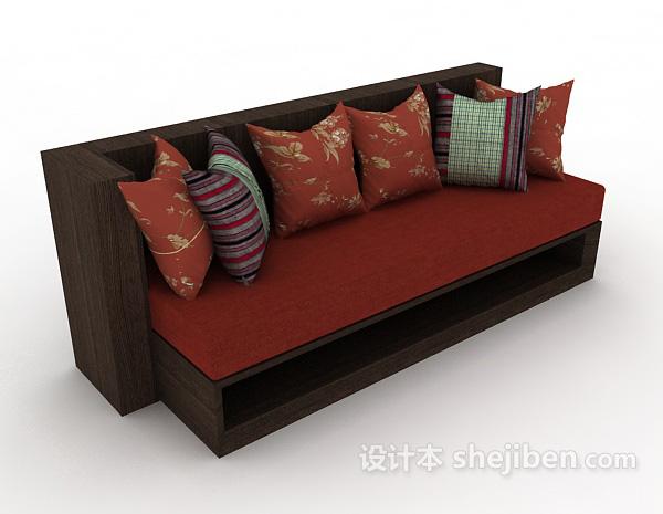 新中式家居简约沙发