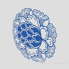 蓝色墙绘画3d模型下载
