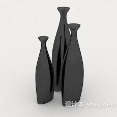 黑色瓷器摆设品3d模型下载