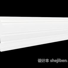 构件简约石膏线3d模型下载