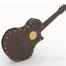 别致吉他3d模型下载