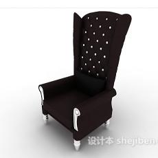 欧式高背家居椅3d模型下载