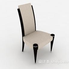 简欧风格实木餐椅3d模型下载