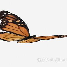 斑点蝴蝶3d模型下载