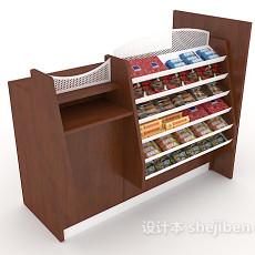 超市货物架3d模型下载