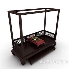 中式风格双人沙发3d模型下载