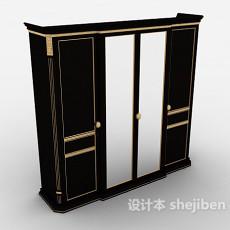 简欧风格衣柜3d模型下载