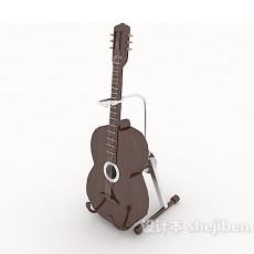 精致吉他3d模型下载