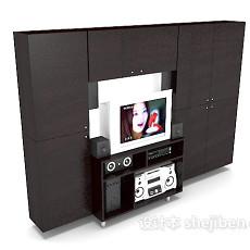 现代家居电视墙、电视柜3d模型下载
