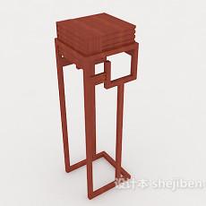 中式花架、摆设架3d模型下载