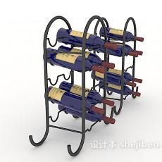 家居金属酒架3d模型下载