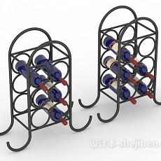 金属酒架3d模型下载