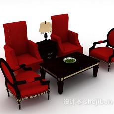 新古典组合沙发3d模型下载