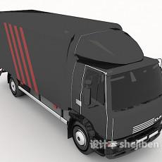 快递运输车3d模型下载