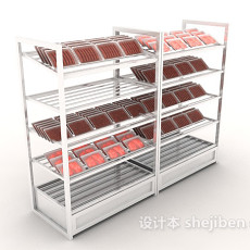 现代超市货架3d模型下载