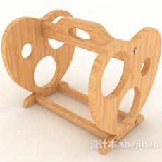 实木酒架3d模型下载