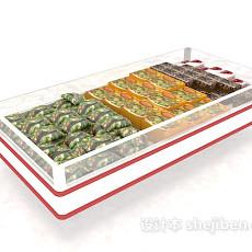 超市冰柜展架3d模型下载