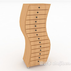 S型抽屉柜3d模型下载