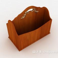 实木文件收纳盒3d模型下载