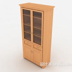 黄色实木办公柜3d模型下载