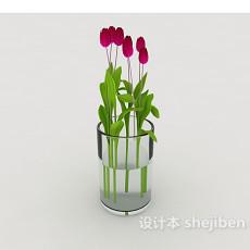 鲜花盆栽摆设品3d模型下载