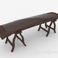 传统乐器古筝3d模型下载